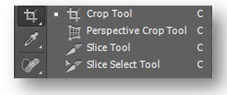 Select Crop tool from toolbox.PNG